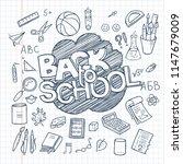 back to school supplies...   Shutterstock . vector #1147679009