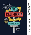 retro grungy route california... | Shutterstock .eps vector #1147683473