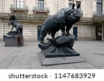statues outside of the mus e d... | Shutterstock . vector #1147683929