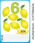 printable worksheet for... | Shutterstock .eps vector #1147686626