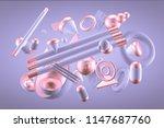 purple abstract minimalism... | Shutterstock . vector #1147687760