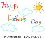 happy father's day card  | Shutterstock .eps vector #1147693736