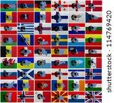 football ball and national... | Shutterstock . vector #114769420