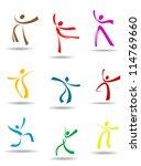 dancing peoples pictograms for... | Shutterstock .eps vector #114769660