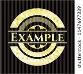 example gold badge | Shutterstock .eps vector #1147697339