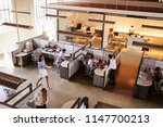 elevated view of a busy open... | Shutterstock . vector #1147700213