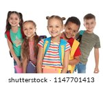 group of little children with... | Shutterstock . vector #1147701413