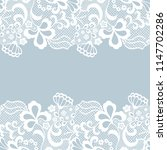 seamless lace border. vector... | Shutterstock .eps vector #1147702286