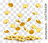 falling coins  falling money ... | Shutterstock .eps vector #1147705439