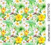 exotic flowers  frangipani ...   Shutterstock . vector #1147707740