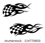 tattoos with checkered flag in... | Shutterstock . vector #114770833