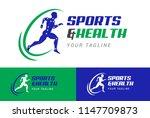 athlete's health logo icon | Shutterstock .eps vector #1147709873