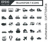 transport icons collection | Shutterstock .eps vector #1147710416