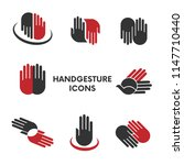 hand gesture icons | Shutterstock .eps vector #1147710440