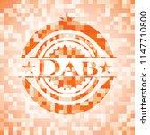 dab orange mosaic emblem | Shutterstock .eps vector #1147710800