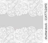 seamless lace border. vector... | Shutterstock .eps vector #1147712693
