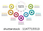 business infograph with round... | Shutterstock .eps vector #1147715513