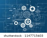 abstract technology background. ... | Shutterstock .eps vector #1147715603