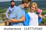 couple in love happy dating ... | Shutterstock . vector #1147719260