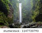 asian jungle waterfall  ... | Shutterstock . vector #1147720793