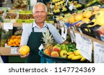 portrait of successful aged... | Shutterstock . vector #1147724369
