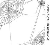 Spider Web On White Background