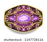 illustration  brooch pendant... | Shutterstock .eps vector #1147728116