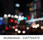 bokeh night life street... | Shutterstock . vector #1147731473