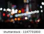 bokeh night life street... | Shutterstock . vector #1147731833