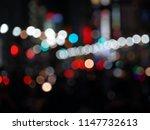 bokeh night life street... | Shutterstock . vector #1147732613