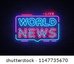 world news sign design template.... | Shutterstock . vector #1147735670