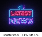 latest news sign design... | Shutterstock . vector #1147735673