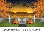 digital painting of a halloween ... | Shutterstock . vector #1147748246