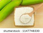 synbiotic dried banana fruit... | Shutterstock . vector #1147748330