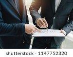 meeting corporate success... | Shutterstock . vector #1147752320