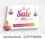 diwali sale poster or banner... | Shutterstock .eps vector #1147756406