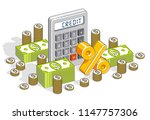 bank credit  loan or mortgage... | Shutterstock .eps vector #1147757306