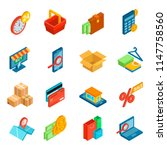 online shopping icon vector e... | Shutterstock .eps vector #1147758560