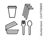 plastic waste. stop using... | Shutterstock .eps vector #1147758809