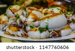 close up view of plate of... | Shutterstock . vector #1147760606