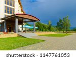 sanatorium in the carpathian... | Shutterstock . vector #1147761053