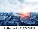 football field in big city  ... | Shutterstock . vector #1147779050
