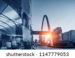 bangkok night view with... | Shutterstock . vector #1147779053