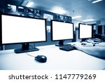 modern plant control room and... | Shutterstock . vector #1147779269