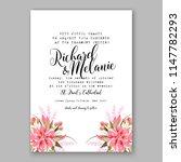 romantic pink peony greenery... | Shutterstock .eps vector #1147782293