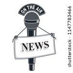 3d microphone vector symbol... | Shutterstock .eps vector #1147783466