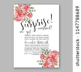floral wedding invitation... | Shutterstock .eps vector #1147788689