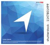 paper plane icon   free vector... | Shutterstock .eps vector #1147801499