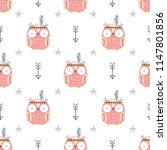 childish seamless pattern with... | Shutterstock .eps vector #1147801856