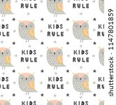 childish seamless pattern with... | Shutterstock .eps vector #1147801859
